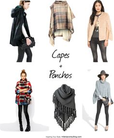 How to Wear Capes + Ponchos - Milena Image Consulting
