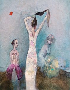 Katarína vavrová /Hair/. painting on japan paper