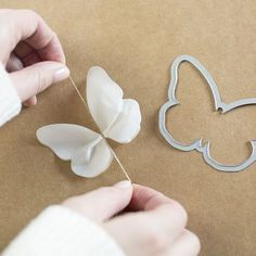 3D Schmetterling aus Pergaminpapier mit den Framelits Schmetterling von Stampin' Up!