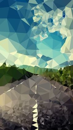 Tap image for more iPhone 6 Wallpapers! Landscape road polygon - @mobile9
