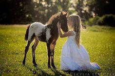 Girl foul horse baby love beautiful inspiring feeling. La vie en rose