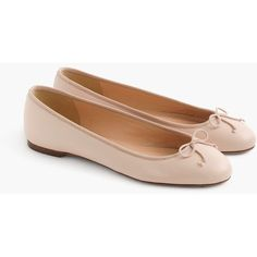 J.Crew Camille Ballet Flats (11.295 RUB) ❤ liked on Polyvore featuring shoes, flats, leather upper shoes, ballerina shoes, ballerina pumps, ballerina flat shoes and skimmers shoes