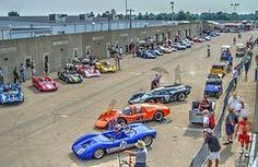 Vintage car racing at Indy Speedway