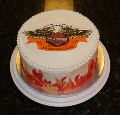 Harley Davidson cake for an auction