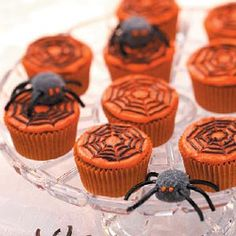 Spooky Spider Cupcakes and more Halloween Cupcake Recipes from Taste of Home