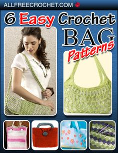 6 Easy Crochet Bag Patterns eBook-