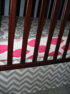 A personal favorite from my Etsy shop https://www.etsy.com/listing/101234064/new-design-your-bumperless-crib-sheet