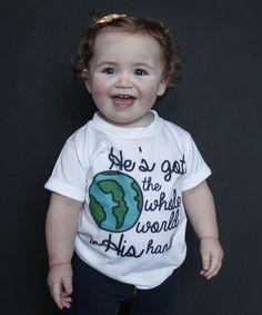This White 'Whole World' Tee - Infant, Toddler & Kids is perfect! #zulilyfinds