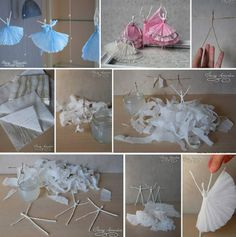 How to make lovely napkin Ballerina step by step DIY tutorial instructions
