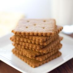 Homemade graham crackers for S'more Ice Cream