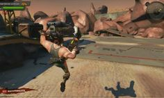 Loadout is a Gory, Free to Play Shooter MMO Game with third person, camera perspective