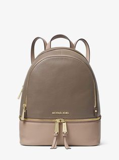 6c729cc94af8 Michael Kors Abbey Mini Backpack Crossbody Brown MK Signature Acorn ...
