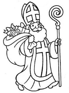 St_Nicholas saint nicholas coloring page 34 coloring pages Christmas Coloring Pages, Coloring Pages For Kids, Coloring Books, Christmas Crafts For Kids, Christmas Colors, St Nicholas Day, Paw Patrol Coloring Pages, Coloring Pages Inspirational, House Drawing