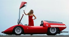 Looking Back At The Retro-Future 1969 Fiat Abarth 2000 Scorpione. One of the best concept cars ever made. Fiat Abarth, Toyota Corolla, Corvette C3, Neuer Ford Mustang, 70s Cars, Retro Cars, Futuristic Cars, Citroen Ds, Car Girls