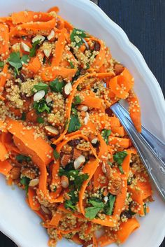 Moroccan Carrot & Quinoa Salad | happy hearted ktichen