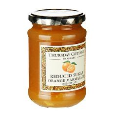 Thursday Cottage Reduced Sugar Orange Marmalade Naturally sweetened with fructose, our fruity reduced sugar preserves are key players in our product range. With much less sugar than traditionally made preserves, they are enjoyed by those who like a http://www.MightGet.com/january-2017-11/thursday-cottage-reduced-sugar-orange-marmalade.asp