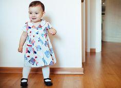 vestido marinero (tela años setenta) #vestidos #niñas #baby #bebé #handmade #hechoamano #kids #dresses