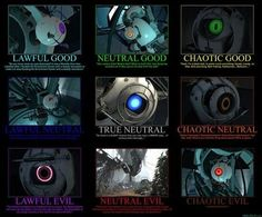 GLaDOS Quotes | GlaDos Alignment Chart / geeking - Juxtapost