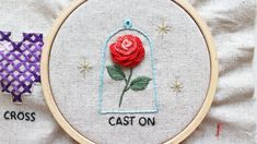 cast on stitch rose embroidery Casting On Stitches, Rose Embroidery, It Cast, Decor, Decoration, Decorating, Deco