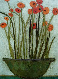Easy Flower Painting, Flower Art, Flower Paintings, Tea Bag Art, Unique Wallpaper, Naive Art, Winter Art, Floral Watercolor, Painting Inspiration