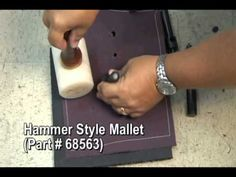 3 Tips for Better Hole Cutting - Sailrite Best to use the Barry King Hammer style Mallet with the cutting die, or if you do leather work...the Rawhide Upholstery Mallet will also work.