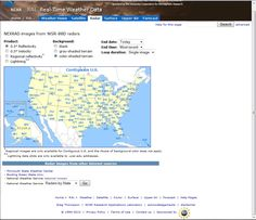 Radar page: RAP Real-Time Weather  http://weather.rap.ucar.edu/radar/