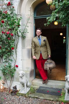 Campbell& of Beauly - Mens Corduroys Heavy Red, Online Purchase, Travel Style, Corduroy, Tweed, Suit Jacket, Trousers, Menswear, Clothing