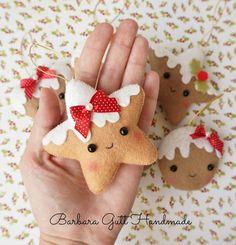 Felt Christmas Decorations, Felt Christmas Ornaments, Noel Christmas, Homemade Christmas, Amazon Christmas, Gingerbread Ornaments, Diy Ornaments, Hallmark Christmas, Silver Christmas