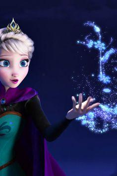 "my-mouse-ears: ""Frozen iPhone 4/4s wallpaper 2/3~ Anna & Elsa Enjoy! """