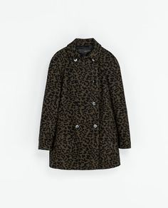 ZARA - WOMAN - PRINTED DOUBLE BREASTED COAT