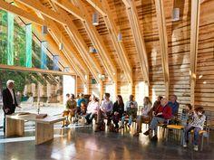 Afbeeldingsresultaat voor houten spanten architectuur