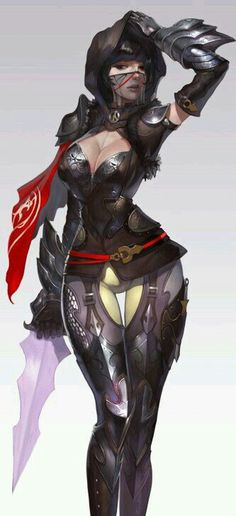 Warrior - wait, what? Chica Fantasy, 3d Fantasy, Fantasy Warrior, Fantasy Women, Fantasy Girl, Fantasy Artwork, Dark Fantasy, Female Character Design, Character Design References