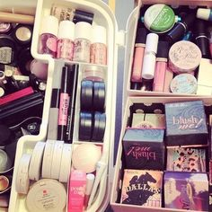 Benefit blushes, tints,  highlighters, and bronzers. Love Benefit products!