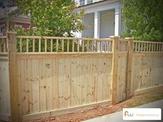 The Dawson - Fence Workshop™ Garden Privacy Screen, Wood Privacy Fence, Patio Fence, Backyard Fences, Backyard Ideas, New Deck, White Fence, Iron Gates, Fence Design
