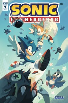 The covers for IDW's first issue of the new 'Sonic The Hedgehog' comic books. The first four issues of the series will debut each week of April. Sonic The Hedgehog, Hedgehog Movie, Hedgehog Art, Sonic Fan Art, Fox Boy, Comics For Sale, Sonic Heroes, Keys Art, Best Friend Pictures