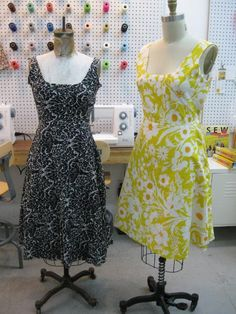 Girly go-to dress - one of the dresses included with Sew Everything by Diana Rupp - on list of things to make