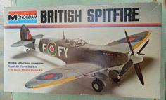 Model Airplane British Spitfire 1/48 scale kit Monogram RAF Fighter Plane Royal…