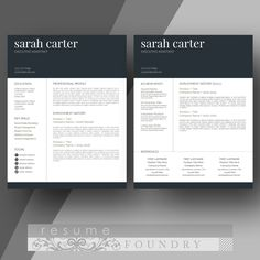 Microsoft Word Professional Letter Template Amusing Modern Male Resume Template  Cover Letter  Two Page  Use With .