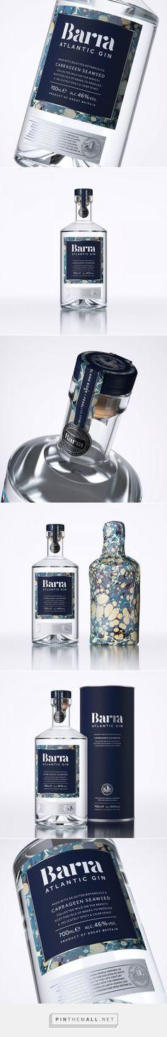 Barra Atlantic Gin packaging design by D8 - http://www.packagingoftheworld.com/2017/10/barra-atlantic-gin.html