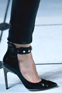 Jason Wu, studs and sparkle ankle strap sky high heels