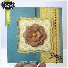 Sizzix Die Cutting Tutorial |Believe In Yourself Flip-its Card by Jeanne Streiff