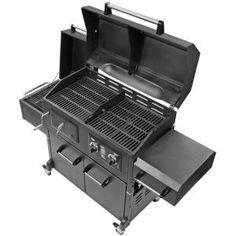 Smoke Hollow Triple Function Propane Gas Charcoal Grill