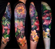 the best full sleeve tattoos Full Sleeve Tattoos, Up Tattoos, Sleeve Tattoos For Women, Future Tattoos, Body Art Tattoos, Tatoos, Floral Sleeve Tattoos, Unique Tattoos, Beautiful Tattoos