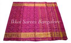 Handwoven Ikkat patola silk saree in pink Code: ISB7003 Write to ikkatsareesbangalore@gmail.com or inbox the message. Contact : +918792177606