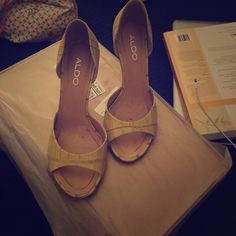 Aldo yellow heels Worn once or twice in perfect condition ALDO Shoes Heels