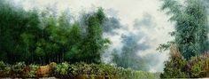(North Korea) Bamboo by Jeon Young (1964-  ).