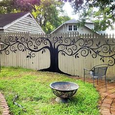 Tree Mural Fence Decor