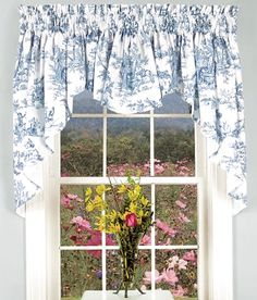 Your favorite Country Curtains now at The Vermont Country Store - French-country themes are elegantly played out on our cotton Toile. Shabby Chic Curtains, Country Curtains, Shabby Chic Bedrooms, Shabby Chic Decor, French Country Rug, French Country Kitchens, French Country Decorating, Country Blue, French Kitchen