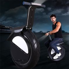 One Wheel Motorcycle 17inch Vacuum Tire Self Balance With Led Headlight Unicycle Electric Cars