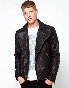 Barneys Originals Leather Jacket Biker